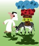 Tired Pack Animals stock illustration