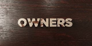 Owners - grungy wooden headline on Maple  - 3D rendered royalty free stock image Stock Photos