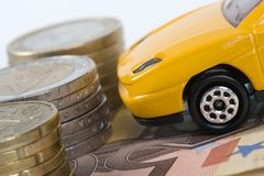 Owning a car gets more expensive... Stock Image