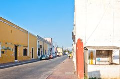 Owntown street view in Valladolid, Mexico Royalty Free Stock Images