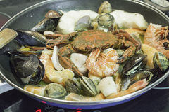 Owoców morza ryż Zdjęcia Royalty Free