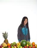 Owoc i dziewczyna fotografia royalty free