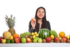 Owoc i dziewczyna zdjęcia stock