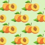 Owoc i liście brzoskwinia Obraz Royalty Free