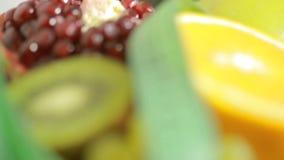 Owoc i pomiarowy taśmy zakończenie up Pojęcie dieta zbiory