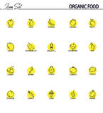 Owoc I Warzywo ikony kreskowy set Zdjęcie Royalty Free