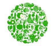 Owoc i warzywo jagody Żywności Organicznej ikona Fotografia Royalty Free