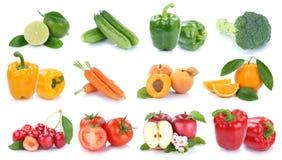 Owoc i warzywo kolekci cytryny odosobniony jabłczany pomarańczowy col Obrazy Stock