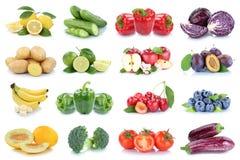 Owoc i warzywo kolekci jabłek pomidorów odosobniony berrie Zdjęcie Stock