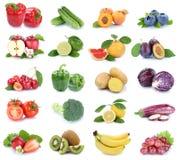 Owoc i warzywo kolekci jabłek pomidorów odosobniony berrie Obraz Royalty Free