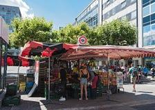 Owoc i warzywo kram przy konstabler wache, Frankfurt am Obraz Royalty Free