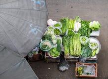 Owoc i warzywo przy lokalni rynki bangkok Thailand Obrazy Stock
