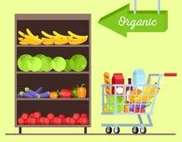 Owoc i warzywo sklep ilustracji