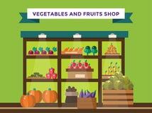 Owoc i warzywo sklepu kram Obrazy Stock