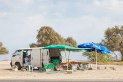 Owoc i warzywo sprzedawca w muszkacie, Oman Obrazy Stock