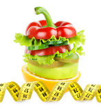 Owoc i warzywo sterta Zdjęcia Stock