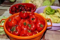 Owoc i warzywo w różnorodnej niecce zdjęcia royalty free