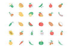 Owoc I Warzywo wektoru linii ikony 1 Fotografia Stock