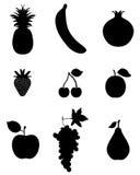 Owoc, ikona royalty ilustracja