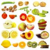 owoc inkasowi rżnięci warzywa Zdjęcia Stock
