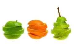 Owoc - jabłko, pomarańcze, bonkreta Zdjęcie Stock