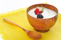owoc jogurt Zdjęcia Royalty Free