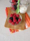 Owoc jogurt ono robić bez cukieru Zdjęcia Stock