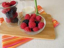 Owoc jogurt ono robić bez cukieru Fotografia Stock