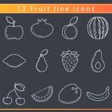 Owoc kreskowe ikony Zdjęcia Stock