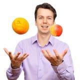 owoc mężczyzna portreta potomstwa Fotografia Royalty Free