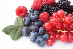 owoc mieszanki czerwieni miękka część Zdjęcia Royalty Free