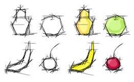 Owoc nakreślenia ilustracja wektor