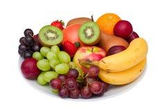 owoc odosobniony półmiska biel Fotografia Stock