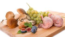 Owoc, przepiórka i borowik edulis, Zdjęcie Royalty Free