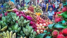 Owoc rynek Siam Przeprowadza żniwa, Kambodża Zdjęcia Stock