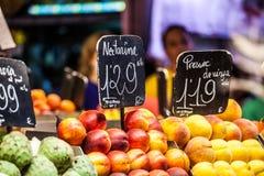 Owoc rynek w losie angeles Boqueria, Barcelona sławny rynek Obraz Stock
