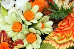owoc rzeźbiący warzywa Obrazy Royalty Free