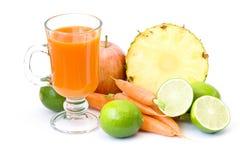 owoc szklani soku warzywa obraz stock