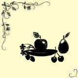 Owoc tło - wektorowa ilustracja Obrazy Royalty Free