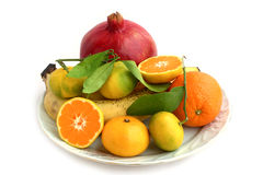 Owoc talerz zdjęcie stock