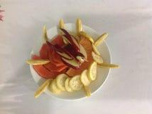 Owoc talerz od wierzchołka Obrazy Royalty Free