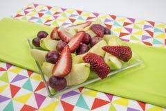Owoc talerz, zdrowy jedzenie Zdjęcia Stock