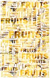 Owoc tekst z bananami Zdjęcia Stock