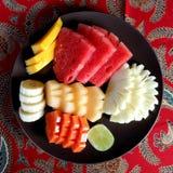 owoc tropikalny platter Obraz Royalty Free