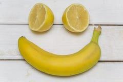 Owoc ustawiać jako uśmiechnięta twarz Zdjęcia Royalty Free