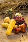 owoc warzywa i jagody zdrowy tła jedzenie Zdjęcia Royalty Free