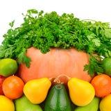 Owoc, warzywa i ziele na białym tle, Zdjęcia Royalty Free