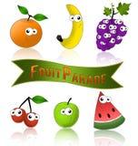 owoc zdrowy śmieszny ilustracja wektor