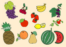 Owoc zestaw Obrazy Stock