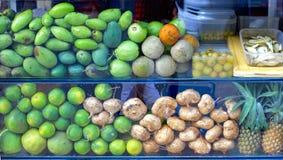 Owoc zielenieją Azja tła mango Zdjęcie Stock